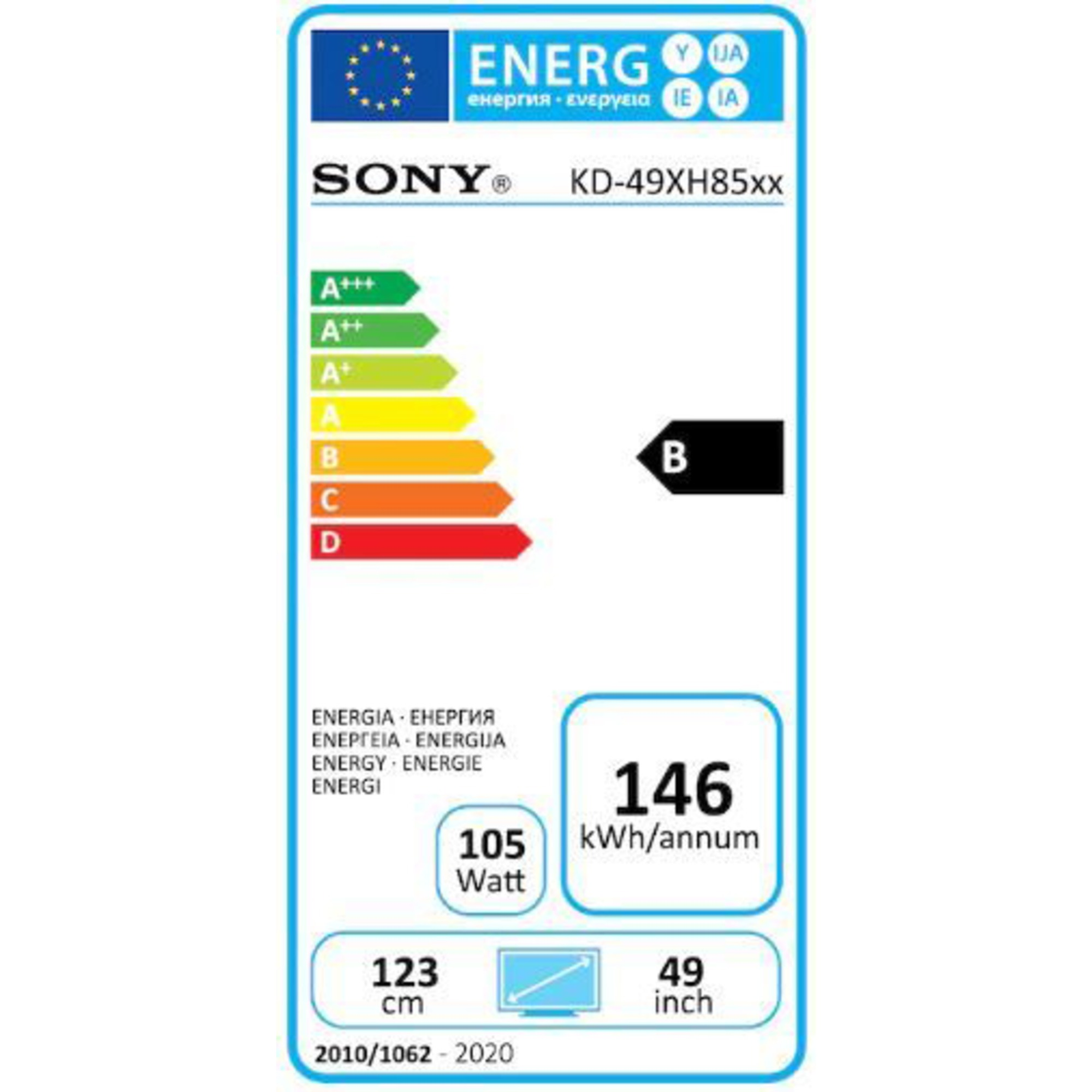 "Sony Ultra HD Smart TV 49"" KD49XH8599BAEP"